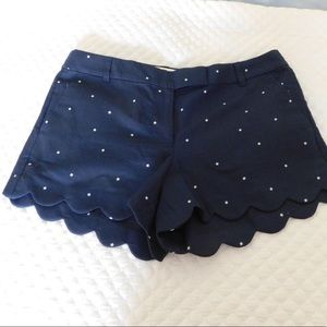 NWT JCrew scallop hem shorts size 12